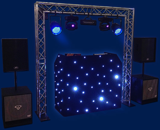 complete disco rig setup for wedding parties